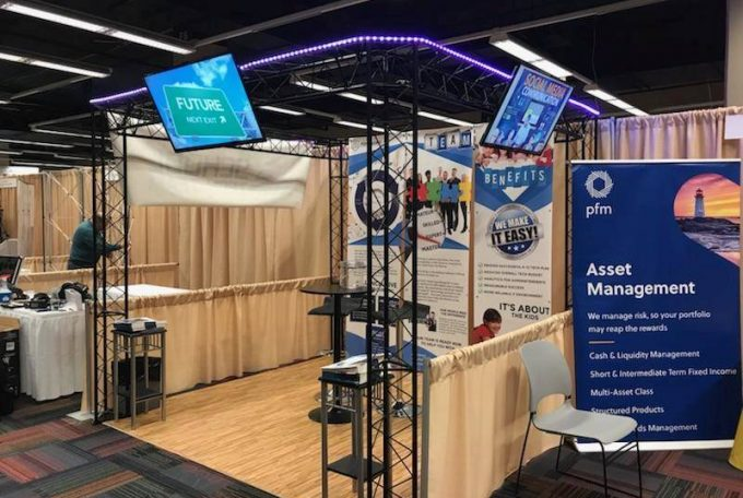 School Tech Team set up and ready to go for IASBO 2017 tomorrow!